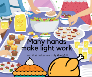 Many hands make like work image.