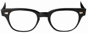 Black-frame eyeglasses