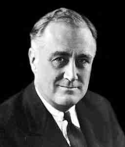 Photograph of Franklin D. Roosevelt